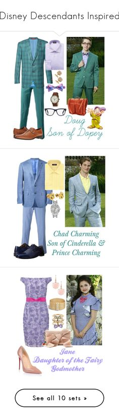 """""""Disney Descendants Inspired"""" by supercomicbooklover ❤ liked on Polyvore featuring Incotex, Isaia, Just Cavalli, Tommy Hilfiger, Tom Ford, Massimo Matteo, Orska, Timex, ClaireChase and men's fashion"""