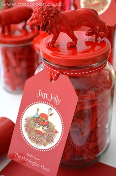 African Christmas tags on Animal Jar - visit www.macaroon.co.za