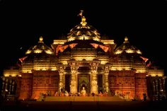 Akshardham is a Hindu temple complex in Delhi, India.The temple, which attracts approximately 70 percent of all tourists who visit Delhi. Th...