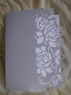 with optional shaped backing plate - ideal companion is my butterflies and humming bird Kirigami, Paper Cutting, Cricut Christmas Ideas, Diy And Crafts, Paper Crafts, Cricut Cards, Card Patterns, Cricut Creations, Pop Up Cards
