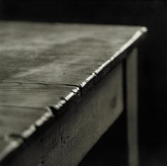 Kitchen table - Andrew Sanderson -  Gelatin silver print, black and white film photography. www.andrewsanderson.com