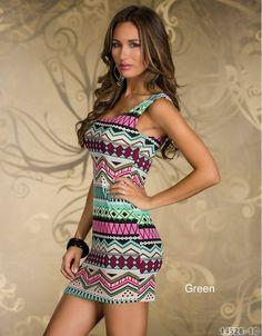 New Fashion Women Sexy Vintage Printed Clubwear Tank Dress Casual Dress Dint FE Sexy Dresses, Casual Dresses, Summer Dresses, Fashion Dresses, Lovely Dresses, Summer Clothes, Vintage Dresses, Look Star, Aztec Dress
