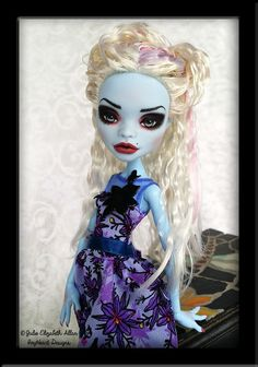 Pearl - Customised Abbey Bominable Monster High by IvyHeartDesigns.deviantart.com on @DeviantArt