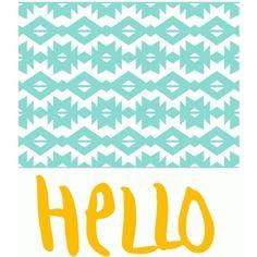 Silhouette Design Store - View Design #61966: pattern and hello