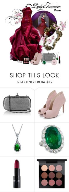 """Lady Tremaine from ""Cinderella"""" by le-piano-argent ❤ liked on Polyvore featuring Vivienne Westwood, Bling Jewelry, Diana M. Jewels, Rubis, MAC Cosmetics and Chanel"