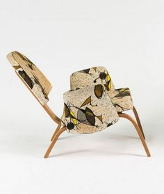 Hugues Steiner; Bent Birch Plywood lounge Chair, c1955.