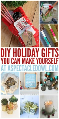 25 DIY Holiday Gifts You Can Make Yourself - Gift giving doesn't have to be difficult! Homemade gifts can be the best gifts you've ever given or received. Plus, there are so many tutorials and ideas now (thank you Pinterest!) that can help walk you through exactly what you need to buy and do to make this Holiday season a VERY special one. Here are 25 amazing DIY Holiday Gifts to get you started!