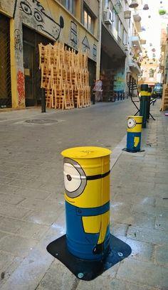 Pittaki street, Psyrri, Athens, Greece