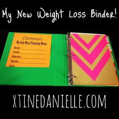 Tips For A Better Diet New Year, New Weight Loss Binder - great tips on how to create a weight loss binder and get organized on your weight loss journey. Weight Loss Binder, Weight Loss Journal, Weight Loss Plans, Fast Weight Loss, Weight Loss Program, Healthy Weight Loss, Weight Loss Tips, Losing Weight, Healthy Food