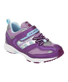 Take a look at this Purple & Light Blue Youth Flash Sneaker by TSUKIHOSHI on #zulily today!