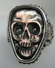 ☠ Black Mother Of Pearl Ring ☠