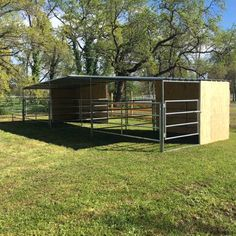 Nice little horse pens with shelters