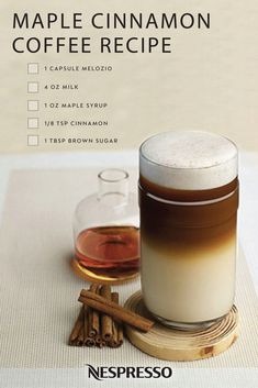 The weather outside is frightful. This holiday season, stay warm with the help of this Maple Cinnamon Coffee recipe from Nespresso. Full of rich, indulgent flavors like maple syrup, cinnamon, brown sugar, and Melozia, this delightful beverage is sure to please. Share this homemade drink with friends and family all winter long.