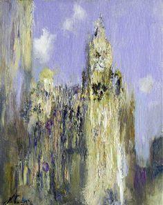 Nikolai Blokhin The Wrigley Building 20x16 in, oil on canvas, 2012
