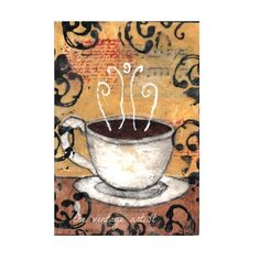 Coffee Print  Mixed Media Art Print by TheVintageArtist on Etsy, £20.00