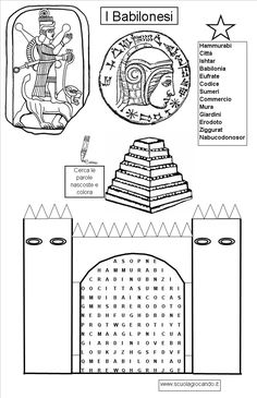 STORIA SCUOLA PRIMARIA - Cerca con Google Teaching Social Studies, Teaching History, Ancient Mesopotamia, Ancient Civilizations, Printable Coloring Pages, Adult Coloring Pages, Free Coloring, Ancient Egypt For Kids, Elementary Spanish