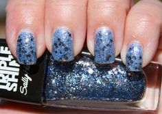 Sally Hansen Triple Shine Sparks Fly (pictured over blue base)
