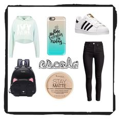"""""""look para escola"""" by marianaantunes2005 ❤ liked on Polyvore featuring Ivy Park, adidas, Casetify and Rimmel"""