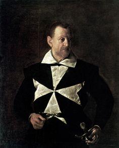 speciesbarocus:  Caravaggio - Portrait of Fra Antonio Martelli (c. 1607). [x]