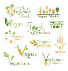 Vegan/Organic/Healthy Food Logos