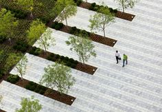 Grange Insurance Headquarters Featured in World Landscape Architecture Landscape And Urbanism, Landscape Architecture Design, Landscape Plans, Space Architecture, Urban Landscape, Classical Architecture, Ancient Architecture, Sustainable Architecture, Modern Landscaping
