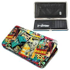 Doctor Who Comic Hinge Wallet - Underground Toys - Doctor Who - Wallets at Entertainment Earth Cash Wallet, Rfid Wallet, Doctor Who Decor, Doctor Who Comics, Rfid Blocking Wallet, Geek Decor, Nerd Geek, Geek Gifts, Tardis