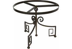 Iron table base with Greek-key design