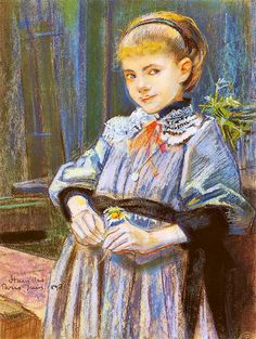 The Athenaeum - Portrait of a Girl (Stanislaw Wyspianski - )