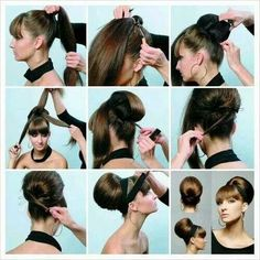 A cute twist on an oldie hair style<3