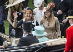 The mother to Princesses Beatrice and Eugenie hasn't been a member of the royal family for more than two decades, but she proved that she hasn't forgotten how to curtsey as she bobbed in deference to the monarch