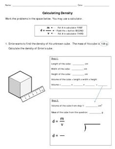 density worksheets with answers density worksheet with answers chemistry pinterest. Black Bedroom Furniture Sets. Home Design Ideas
