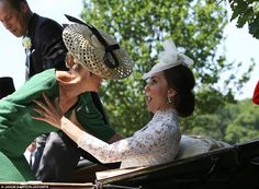See the new lace dress by Alexander McQueen the Duchess of Cambridge, formerly Kate Middleton, wore to Royal Ascot Royal Ascot, Duke And Duchess, Duchess Of Cambridge, Countess Wessex, Duchesse Kate, Herzogin Von Cambridge, Princesa Kate Middleton, Elisabeth Ii, Prince William And Catherine