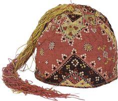 14th century Quilted Silk Cap mamluk cap #arabic #syrian