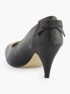 ESCARPINS - N by naf-naf marques  shoe with a little bow  petit noed en cuir noir