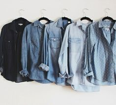 Wanted : une collection de chemises en jean !
