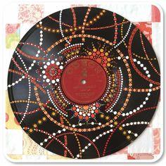 Mandala Art, Mandala Drawing, Mandala Painting, Mandala Design, Aboriginal Dot Painting, Dot Art Painting, Record Wall Art, Vynil, Record Crafts