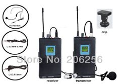 Promotions Hot Camera Interview camcorder Mount UHF Wireless Microphone System with Lavalier Mic MJ-6 Camera wireless microphone $190.59
