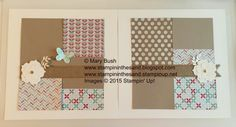Stampin' Up! Scrapbook Layout.  Details and a supply list are available on my blog here: http://stampininthesand.blogspot.com/2015/04/bright-blooms-scrapbook-layout.html Thanks for visiting!