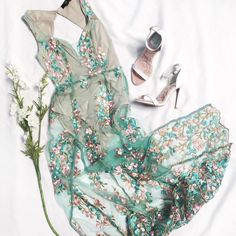 All about the details   All Floral Me Maxi Dress  Faux Fun Ankle Strap Pumps