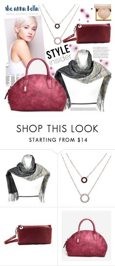 """""""She Anna Bella"""" by gaby-mil ❤ liked on Polyvore featuring Stila, jewellery, scarves, purses and sheannabella"""