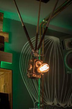 Steampunk Bar Lights Camera Action