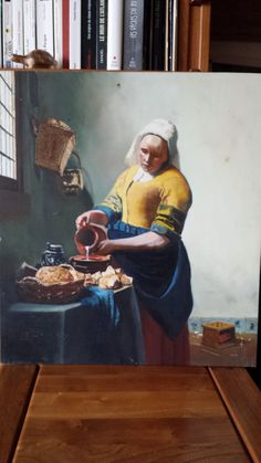 Vermeer. La laitière. © Elise Mangin