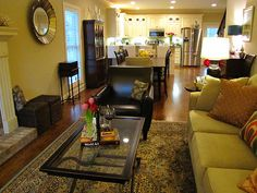 Living Room Dining Room Combo For Apt Or Small Space House Home Pinterest Small Spaces