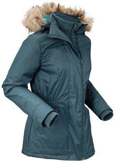 Lange outdoor jas donkerblauw Dames bpc bonprix