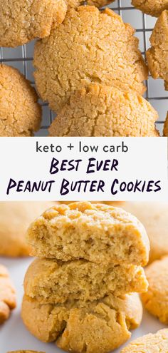 Peanut butter keto cookies that actually taste good. Finding a delicious gluten-free, low carb cookie that's soft and chewy is hard. Made with a mix of almond flour and coconut flour so they're keto friendly. Sugar free they are sweetened with stevia. Forget about the 3 ingredient cookie and create something amazing! Sugar Free Peanut Butter, Organic Peanut Butter, Best Peanut Butter, Ketogenic Desserts, Low Carb Desserts, Health Desserts, Healthy Vegetable Recipes, Healthy Dessert Recipes, Vegetarian Recipes
