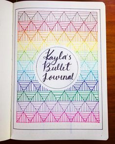 Bullet journal cover page, geometric drawings