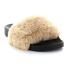 Seven7 Davinchi Women's Slide Sandals, Size: 11, Lt Beige