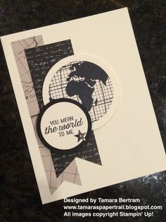 Handmade Cards; World Traveller; Going Places DSP; Going Global; Handmade Masculine Cards; Masculine Card; Stampin' Up; 2016 Occasions; Tamara's Paper Trail