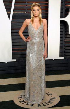 Lily Donaldson en la fiesta de los Premios Oscar 2016 organizada por Vanity Fair