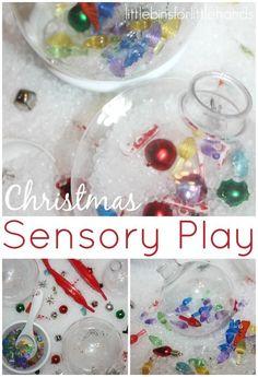 Christmas Ornament Sensory Play Activity